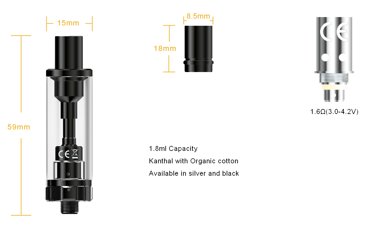 Aspire K2 Tank Specification