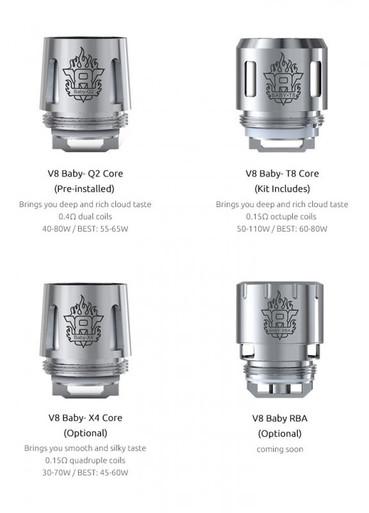 5 Pack SMOK TFV8 Baby Coils including Q2 coils, X4 coils, or T8 coils