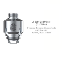 3 Pack SMOK TFV8 Baby Coils EU Edition including Q2 coils, or T8 coils.