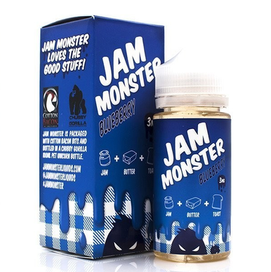 Blueberry Jam Monster Eliquid 100ml by Fresh Juice Co Only £24.99 (Zero Nicotine & Free Nic Shots)