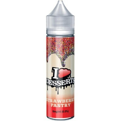 Strawberry Pastry E Liquid 50ml by I VG Desserts Range Only £13.99 (Zero Nicotine)