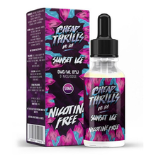 Sunset Ice E Liquid 50ml by Cheap Thrills (60ml/3mg if nicotine shot added) Only £15.99 (FREE NICOTINE SHOTS)