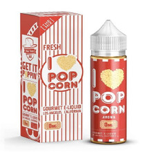 I Love Popcorn Eliquid 100ml (120ml with 2 x 10ml nicotine shots to make 3mg) by Mad Hatter Juice Only £19.99 (FREE NICOTINE SHOTS)