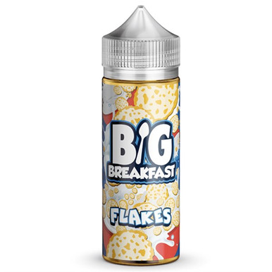 Flakes E Liquid (120ml Shortfill with 2 x 10ml nicotine shots to make 3mg) by Big Breakfast Only £19.49 (Zero Nicotine)