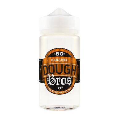 Caramel Dough Bros E Liquid 80ml Shortfill  (100ml Shortfill with 2 x 10ml nicotine shots to make 3mg) By Dough Bros