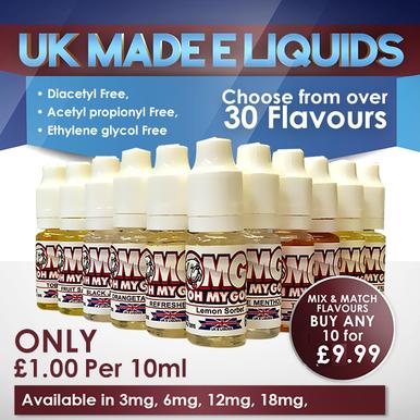 9 x 10ml High VG  Oh My God E Liquids Variety Pack £8.99