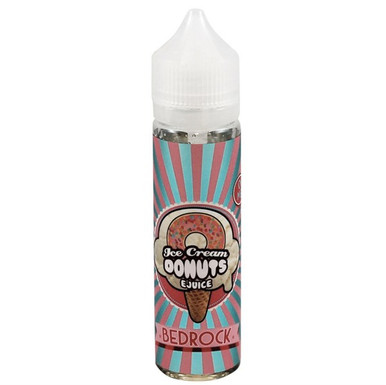 Bedrock Ice Cream Donuts E Liquid (60ml with 1 x 10ml nicotine shots to make 3mg) by Ice Cream Man E Liquid Only £14.49 (Zero Nicotine)