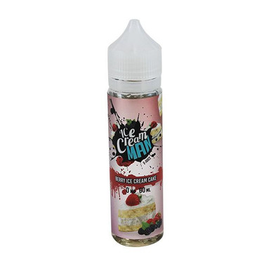 Berry Ice Cream Cake E Liquid (60ml with 1 x 10ml nicotine shots to make 3mg) by Ice Cream Man E Liquid Only £14.49 (Zero Nicotine)