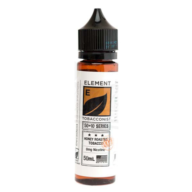 Honey Roasted Tobacco E Liquid 50ml(60ml with 1 x 10ml nicotine shots to make 3mg) by Element Tobacconist Series (Zero Nicotine)