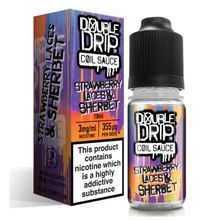 Strawberry Laces & Sherbet E Liquid By Double Drip Coil Sauce 10ml