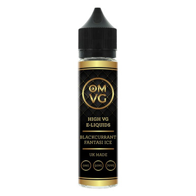 Blackcurrant Fantasi Ice Shortfill E Liquid 50ml by OMVG (FREE NICOTINE SHOT)