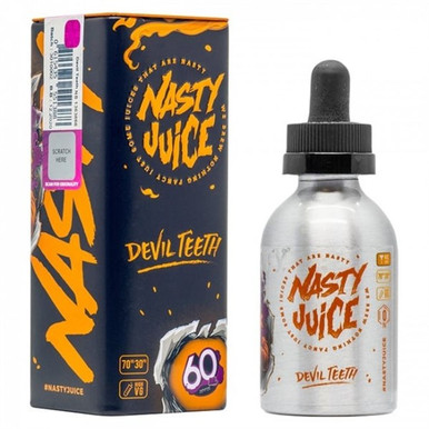 Devil Teeth E Liquid 50ml(60ml with 1 x 10ml nicotine shots to make 3mg Shortfill by Nasty Juice