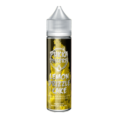 Lemon Drizzle Cake E Liquid 50ml (60ml with 1 x 10ml nicotine shots to make 3mg) Shortfill by Pukka Juice  Deserts