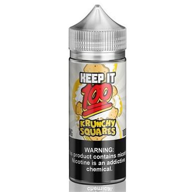 Krunchy Squares E Liquid 100ml (120ml with 2 x 10ml nicotine shots to make 3mg) Shortfill By Keep It 100