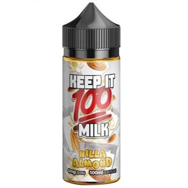 Nilla Almond E Liquid 100ml (120ml with 2 x 10ml nicotine shots to make 3mg) Shortfill By Keep It 100