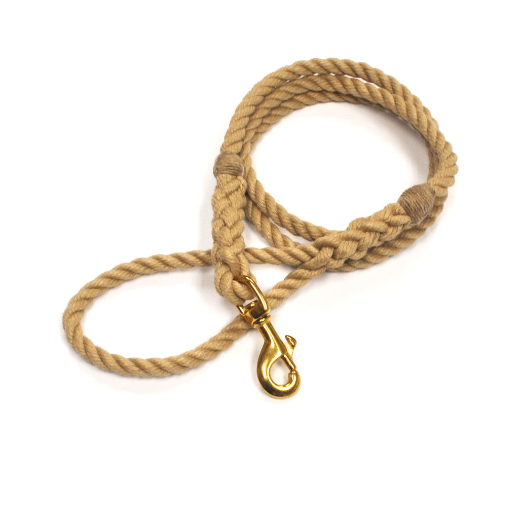 Langman Ropes P.O.S.H Dog Leash - Beige