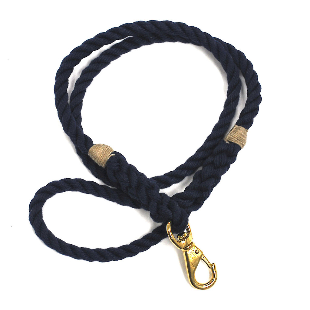 Langman Ropes P.O.S.H Dog Leash - Navy