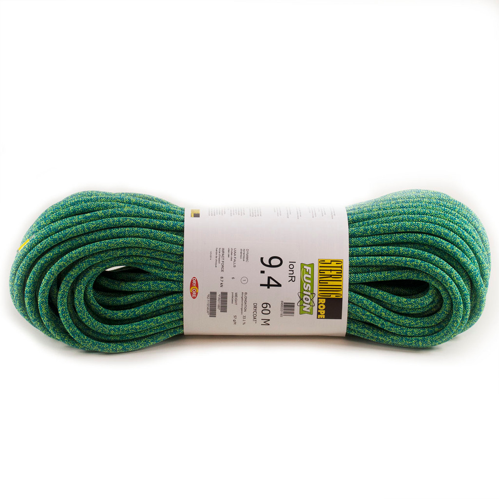 Sterling Rope - IonR Dynamic Line - 9.4mm X 60M Dry - Green
