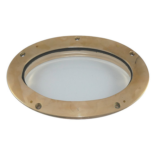 Davey & Company Polished Bronze Portlight - Oval Fixed