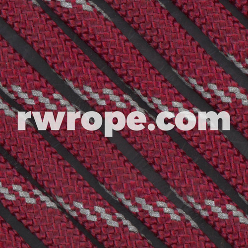 Paracord 550 in Burgundy With Reflective Fleck.