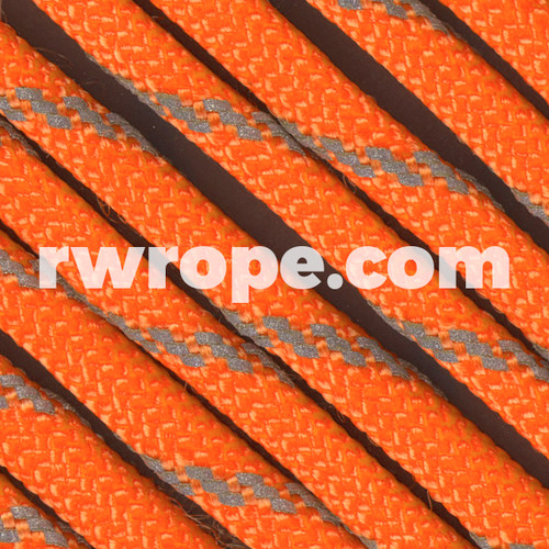 Paracord 550 in Neon Orange With Reflective Fleck.