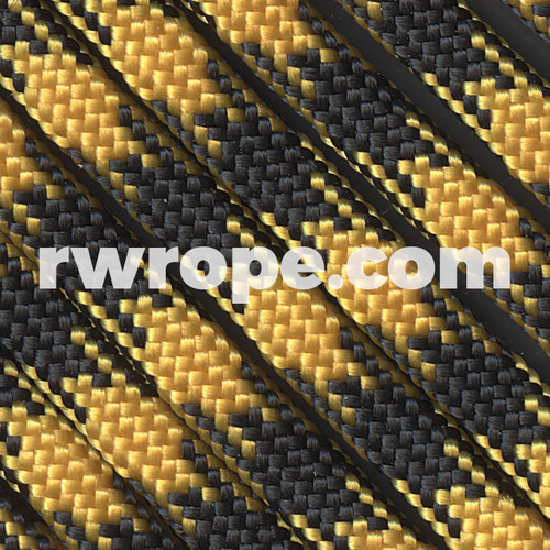 Paracord 550 in Goldenrod/Black