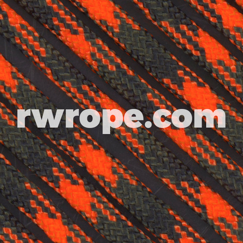 Paracord 550 in Orange Blaze Camo