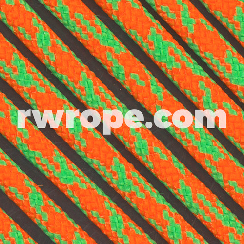 Paracord 550 in Neon Orange / Neon Green Camo
