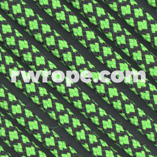 Paracord 550 in Neon Green Diamonds