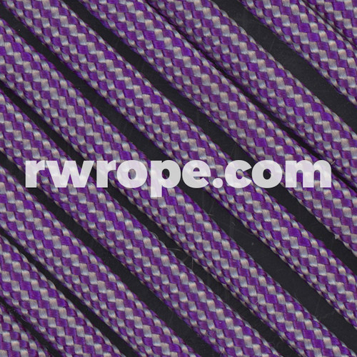 Paracord 550 in Acid Purple Silver Grey Stripes