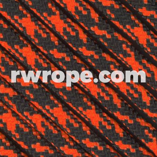 Black With Neon Orange Camo