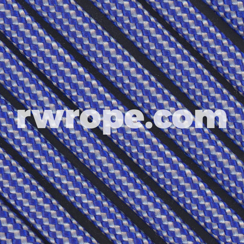 Paracord 550 in Electric Blue / Grey Stripe