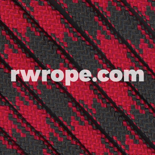 Paracord 550 in Imperial Red / Black 50/50