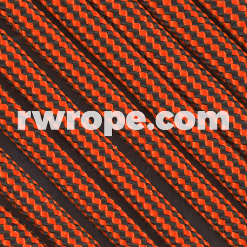 Paracord 550 in Neon Orange And Black Stripe