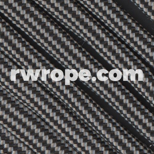 Paracord 550 in Silver Grey And Black Stripe