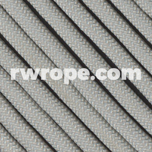 650 Flat Coreless Paracord in Silver.