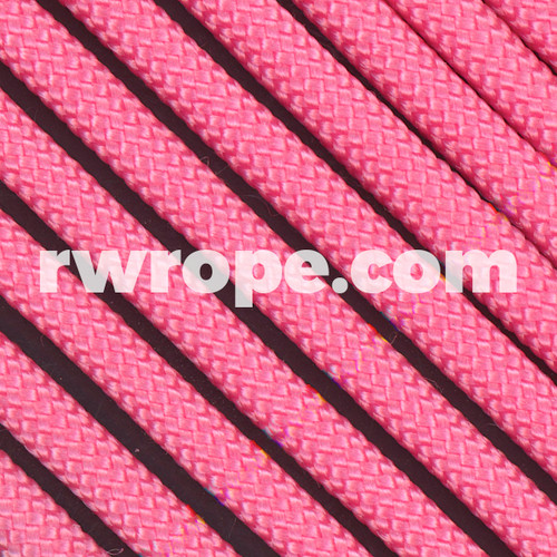 650 Flat Coreless Paracord in rose pink.