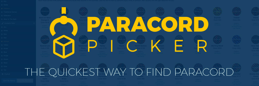 Paracord Picker - the easiest way to shop for paracord