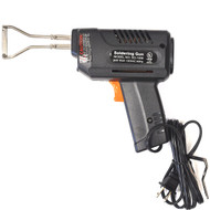 Soldering gun style hot knife for sutting and sealing rope.