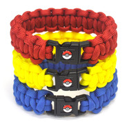 Pokemon paracord bracelet - valor, mystic, and instinct.