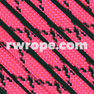 Paracord 550 in Neon Pink With Black X