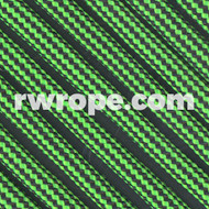 Paracord 550 - Neon Green And Black Stripe #306