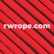 650 Flat Coreless Paracord in Red.