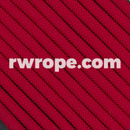650 Flat Coreless Paracord in imperial red.
