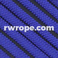 650 Flat Coreless Paracord in electric blue.
