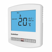 Heatmiser Slimline HW-N  12v Programmable Thermostat inc Hot Water