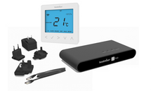 HomeKit-Enabled Smart Thermostat - Heatmiser neoKit 1 Gen 2 Glacier White