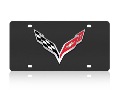 C7 Corvette Black SS License Plate