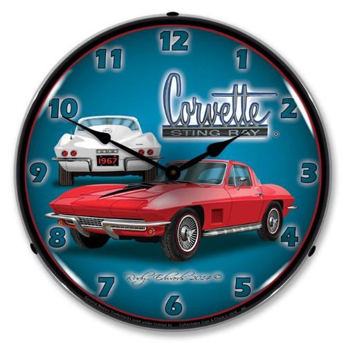1967 C2 Corvette Clock