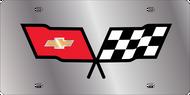 C3 Corvette License Plate w/ Black Outline